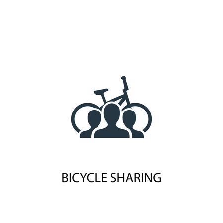 Bicycle sharing icon. Simple element illustration. Bicycle sharing concept symbol design. Can be used for web Ilustração