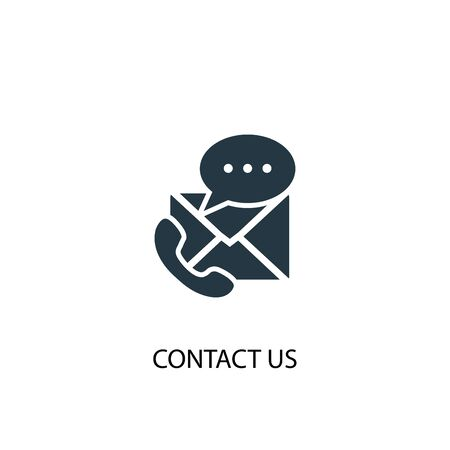 contact us icon. Simple element illustration. contact us concept symbol design. Can be used for web