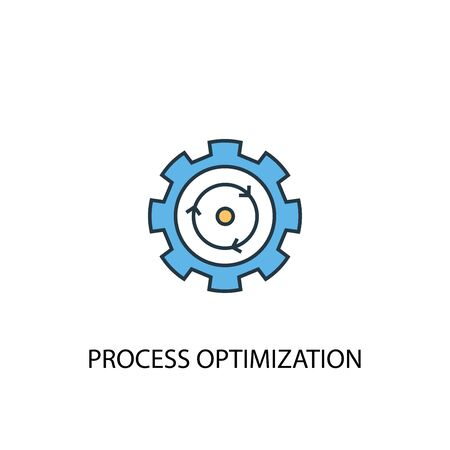 process optimization concept 2 colored icon. Simple blue element illustration. process optimization concept symbol design. Can be used for web and mobile Ilustração