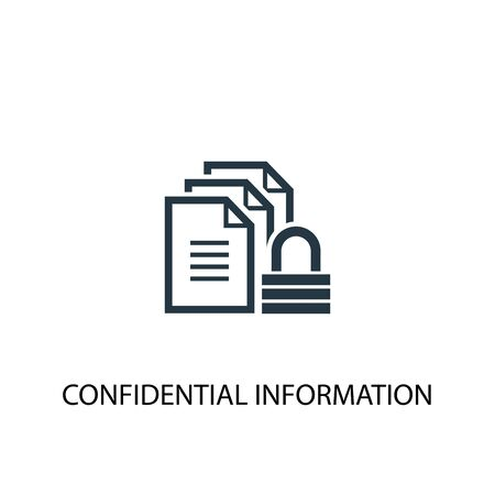 confidential information icon. Simple element illustration. confidential information concept symbol design. Can be used for web