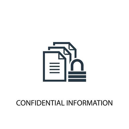 icône d'informations confidentielles. Illustration d'élément simple. conception de symbole de concept d'informations confidentielles. Peut être utilisé pour le Web Vecteurs
