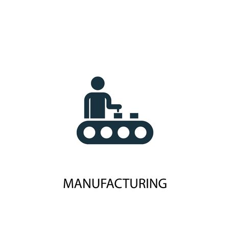 manufacturing icon. Simple element illustration. manufacturing concept symbol design. Can be used for web