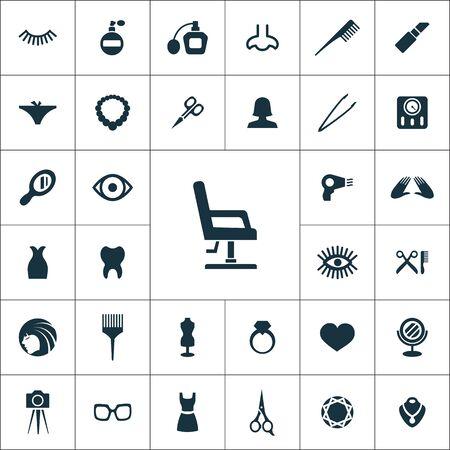 beauty salon icons universal set 向量圖像