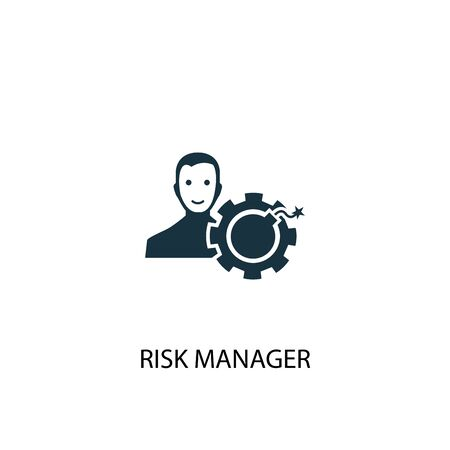risk manager icon. Simple element illustration. risk manager concept symbol design. Can be used for web Stock Illustratie