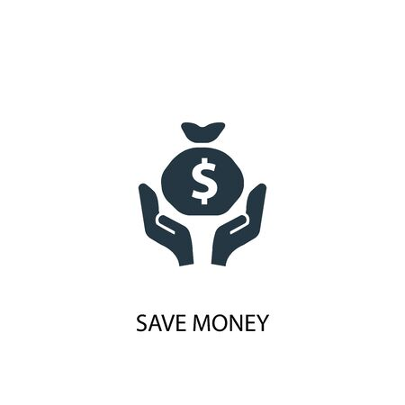 save money icon. Simple element illustration. save money concept symbol design. Can be used for web and mobile.
