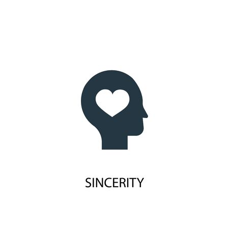 sincerity icon. Simple element illustration. sincerity concept symbol design. Can be used for web and mobile.