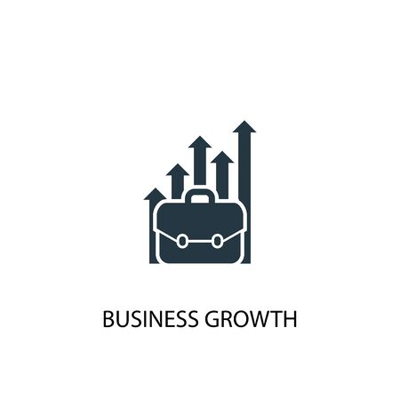 business growth icon. Simple element illustration. business growth concept symbol design. Can be used for web and mobile.