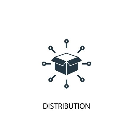 distribution icon. Simple element illustration. distribution concept symbol design. Can be used for web and mobile.