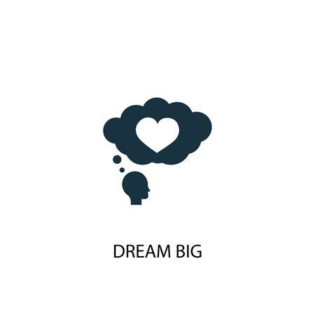 dream big icon. Simple element illustration. dream big concept symbol design. Can be used for web and mobile. Ilustração Vetorial