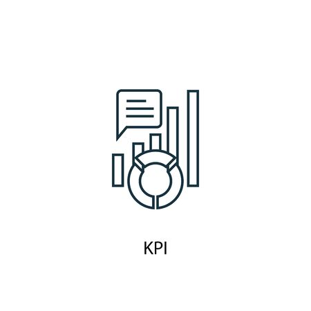 KPI concept line icon. Simple element illustration. KPI concept outline symbol design. Can be used for web and mobile UI Иллюстрация