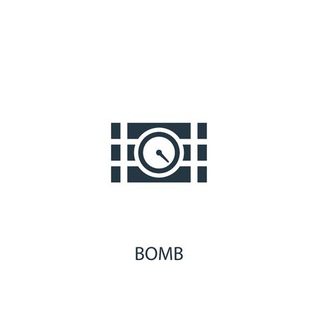 bomb icon. Simple element illustration. bomb concept symbol design. Can be used for web and mobile.