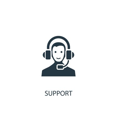 support icon. Simple element illustration. support concept symbol design. Can be used for web and mobile. Vettoriali