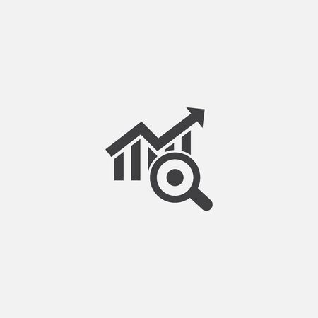 trend analyze base icon. Simple sign illustration. trend analyze symbol design. Can be used for web, print and mobile Vetores