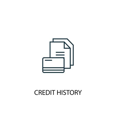 Credit history concept line icon. Simple element illustration. Credit history concept outline symbol design. Can be used for web and mobile UI Illustration