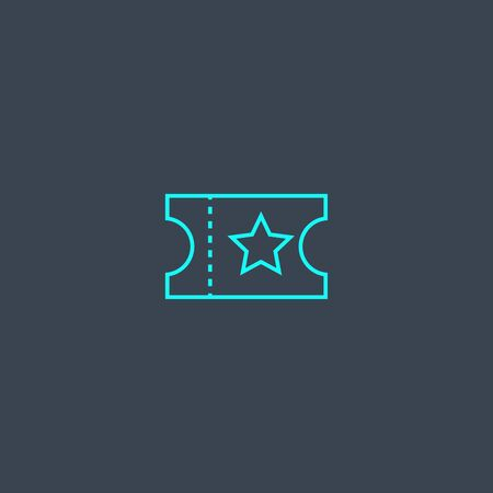 coupon concept blue line icon. Simple thin element on dark background. coupon concept outline symbol design. Can be used for web and mobile UI