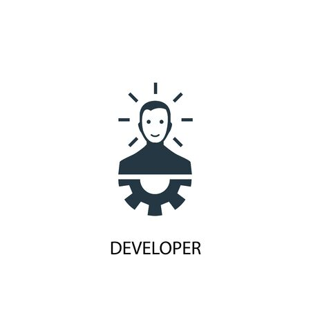 Developer icon. Simple element illustration. Developer concept symbol design. Can be used for web and mobile.