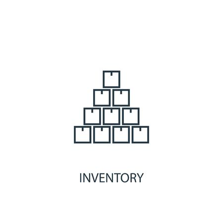 inventory concept line icon. Simple element illustration. inventory concept outline symbol design. Can be used for web and mobile UI Illustration