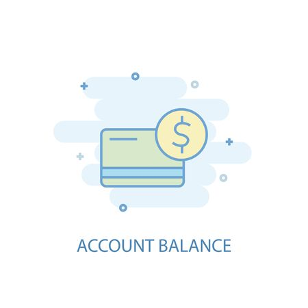 account balance line concept. Simple line icon, colored illustration. account balance symbol flat design. Can be used for UI Foto de archivo - 133748522