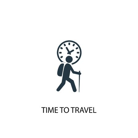 time to travel icon. Simple element illustration. time to travel concept symbol design. Can be used for web and mobile. Çizim
