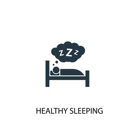healthy sleeping icon. Simple element illustration. healthy sleeping concept symbol design. Can be used for web and mobile.
