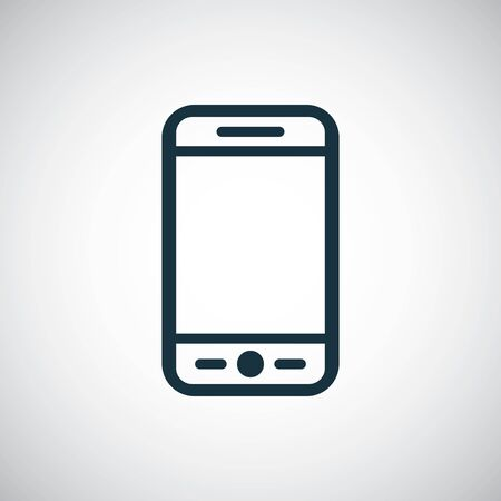 smartphone icon, on white background.
