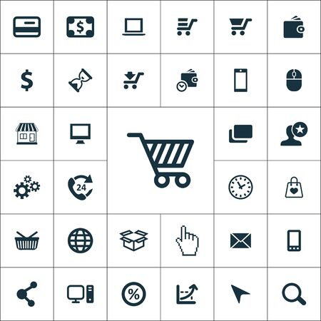 e-commerce icons universal set for web and mobile.