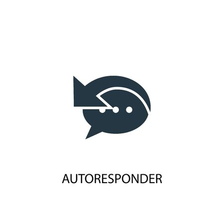 Autoresponder icon. Simple element illustration. Autoresponder concept symbol design. Can be used for web and mobile.