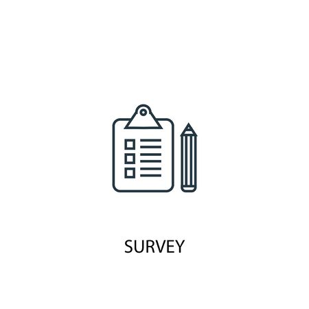 survey concept line icon. Simple element illustration. survey concept outline symbol design. Can be used for web and mobile