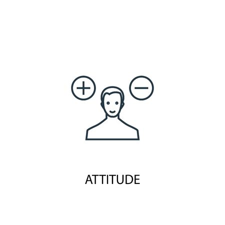 attitude concept line icon. Simple element illustration. attitude concept outline symbol design. Can be used for web and mobile 矢量图像