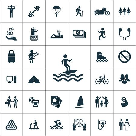 lifestyle icons universal set for web and UI 向量圖像