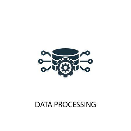 Icône de traitement des données. Illustration d'élément simple. Conception de symbole de concept de traitement de données. Peut être utilisé pour le Web
