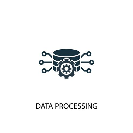 Data processing icon. Simple element illustration. Data processing concept symbol design. Can be used for web