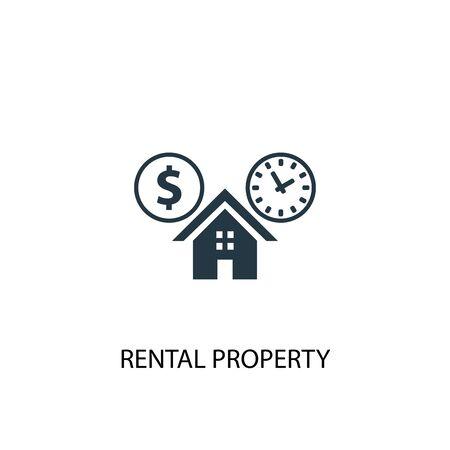 icono de propiedad de alquiler. Ilustración de elemento simple. diseño de símbolo de concepto de propiedad de alquiler. Puede usarse para web