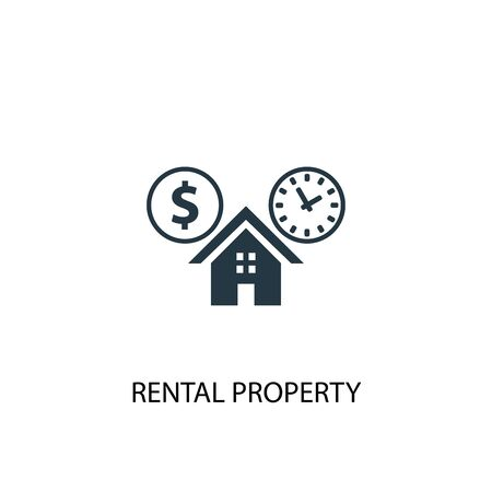 rental property icon. Simple element illustration. rental property concept symbol design. Can be used for web