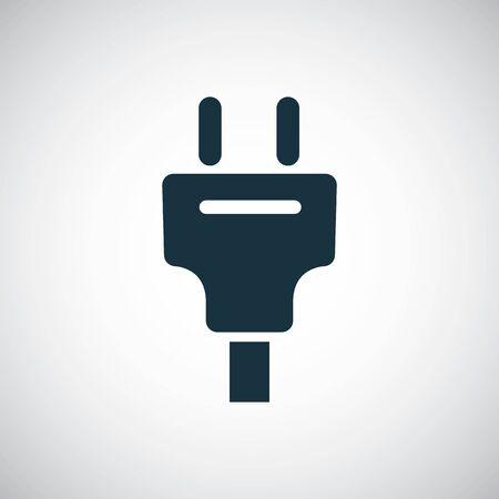 electrical plug icon simple flat element concept design  イラスト・ベクター素材