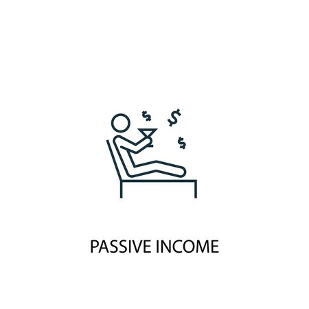 passive income concept line icon. Simple element illustration. passive income concept outline symbol design. Can be used for web and mobile