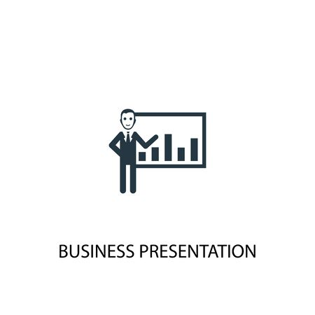 business presentation icon. Simple element illustration. business presentation concept symbol design. Can be used for web and mobile.