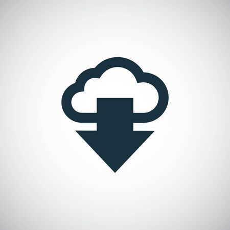 cloud arrow icon simple flat element design concept