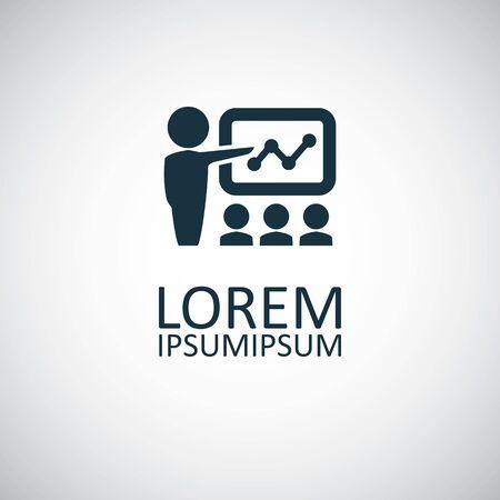 teacher icon simple flat element design concept Ilustracja