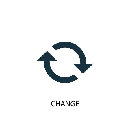 change icon. Simple element illustration. change concept symbol design. Can be used for web