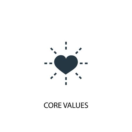 Core values icon. Simple element illustration. Core values concept symbol design. Can be used for web