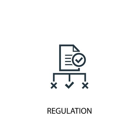 regulation icon. Simple element illustration. regulation concept symbol design. Can be used for web