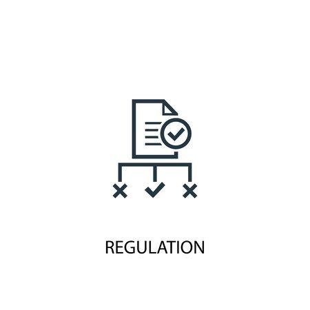 Regulierungssymbol. Einfache Elementabbildung. Regulierungskonzept Symboldesign. Kann für Web verwendet werden