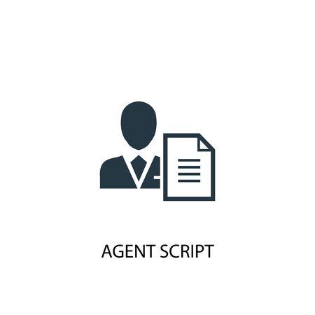 Agent Script icon. Simple element illustration. Agent Script concept symbol design. Can be used for web Çizim