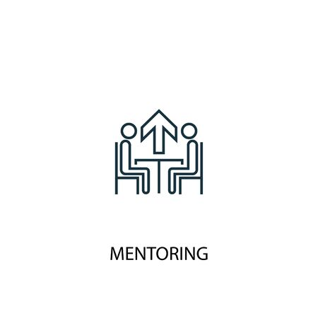 Mentoring concept line icon. Simple element illustration. Mentoring concept outline symbol design. Can be used for web and mobile