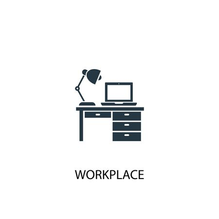 workplace icon. Simple element illustration. workplace concept symbol design. Can be used for web and mobile.