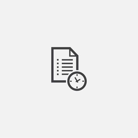 Waiting list base icon. Simple sign illustration. Waiting list symbol design. Can be used for web, print and mobile