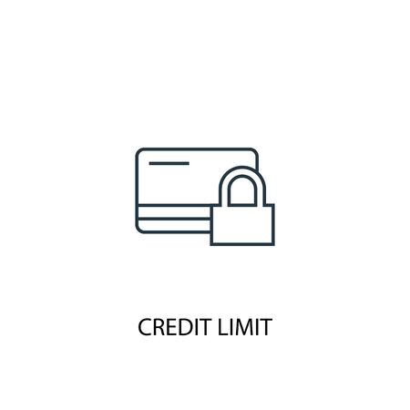 Credit Limit concept line icon. Simple element illustration. Credit Limit concept outline symbol design. Can be used for web and mobile UI