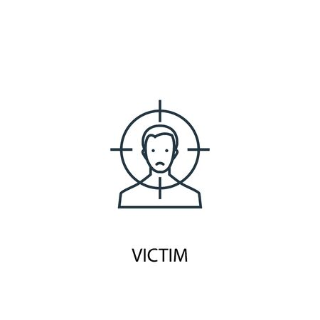 victim concept line icon. Simple element illustration. victim concept outline symbol design. Can be used for web and mobile UI Ilustracja