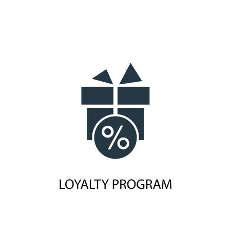 icône du programme de fidélité. Illustration d'élément simple. conception de symbole de concept de programme de fidélité. Peut être utilisé pour le Web et le mobile.